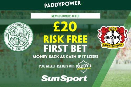 Celtic vs Leverkusen: Get £20 RISK FREE bet and HUGE 110/1 bet builder tip