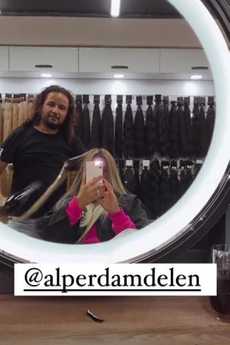 Katie Price unveils new extensions in Turkey as hairdresser works until 2am