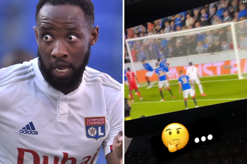 Moussa Dembele trolls Gers fans with footage of him watching Tavernier own goal