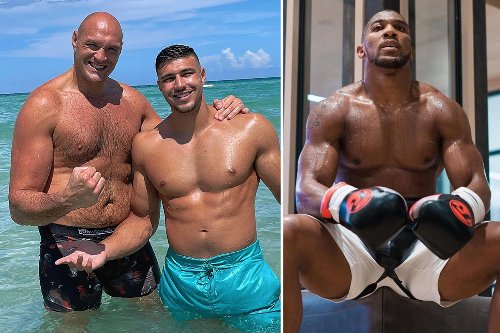 Joshua and Fury training 'like an animals' as Gypsy King relaxes in Miami