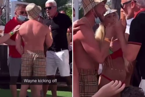 Wayne Lineker in screaming match at his club after a man calls him a nonce