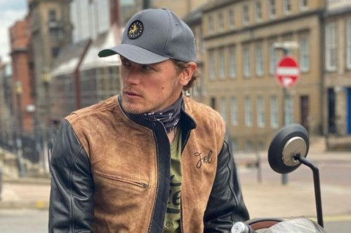 Sam Heughan stops in at Glasgow restaurant during Sunday motorbike ride