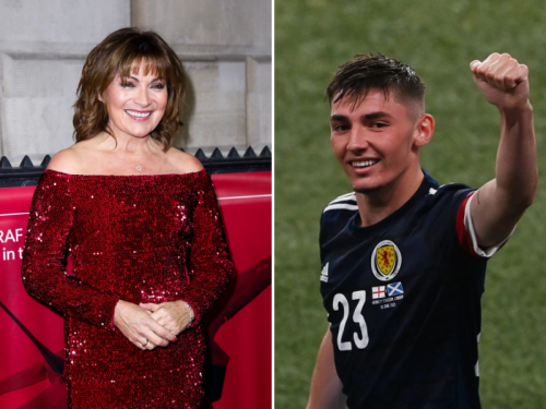 Lorraine gushes over 'lovely' Gilmour as she tackles hangover with Irn-Bru