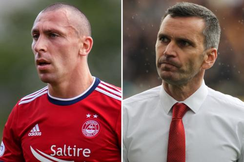 Aberdeen boss Stephen Glass on Scott Brown's 'difficult position' at Pittodrie