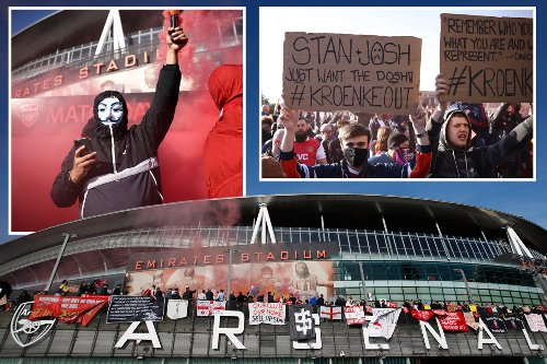 Thousands of Arsenal fans protest at owner Kroenke and demand he quits club