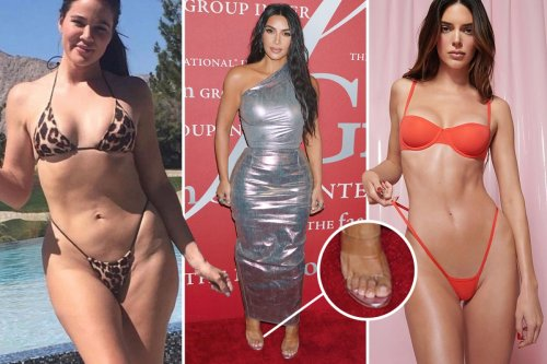 Kardashian photoshop fails: Khloe's 'unedited' bikini pic & Kim's 'six toes'