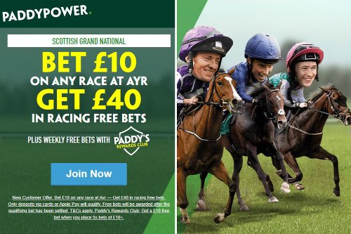 Scottish Grand National free bets: Get £40 in free bets with Paddy Power for Ayr