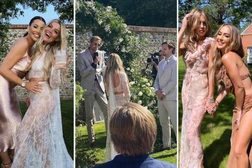 Peter Crouch officiates pal's star-studded wedding as wife Abbey parties alongside Rochelle Humes and Jess Wright