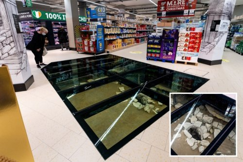 The Lidl store where you can walk over 1,000-year-old Viking ruins as you shop