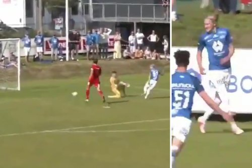 Erling Haaland's cousin Albert Tjaaland, 17, scores minutes into his Molde debut