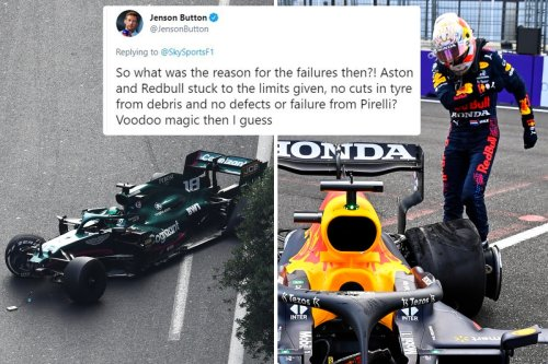 Jenson Button says tyre blowouts must be 'voodoo magic' after Pirelli claimed no fault