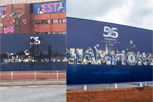 Gers unveil rapid replacement after '55 Champions' sign vandalised outside Ibrox