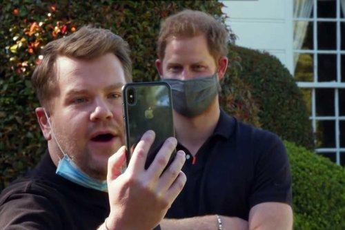 Harry is still happy & jokey despite royal feud, pal James Corden reveals