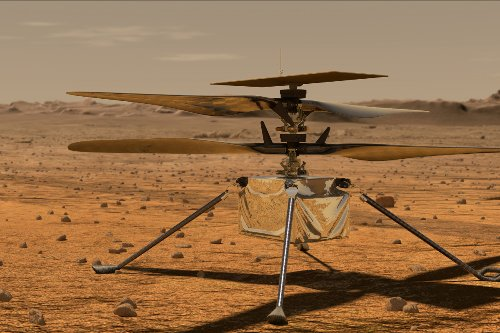 Nasa completes first flight on Mars following lift-off of drone helicopter
