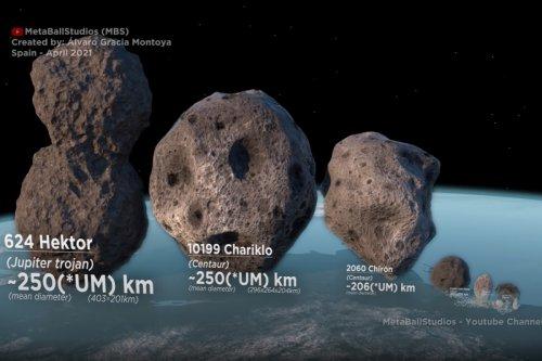Horrifying video shows HUGE size of Solar System's biggest asteroids