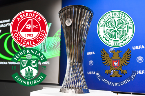 Aberdeen and Hibs discover in Europa Conference League play-off fate