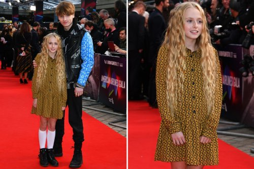 David Tennant's daughter Olive, 10, poses with rarely seen brother Ty as she follows in dad's footsteps with movie debut