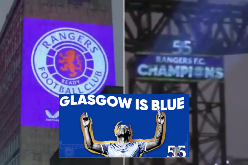 Rangers light up famous Glasgow landmarks to proclaim 'this is our city'