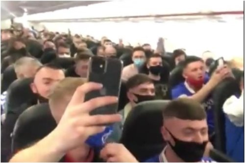 Rangers fans 'singing sectarian songs' terrify passengers on flight to Glasgow