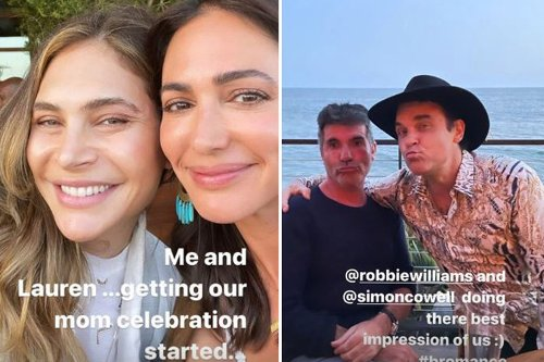 Simon Cowell displays weight loss as he joins pal Robbie Williams on double date