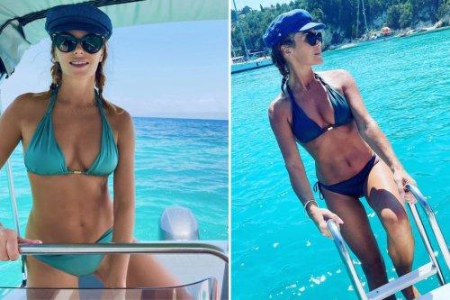 Amanda Holden, 50, looks unbelievable as she poses for bikini snaps on luxury family holidays