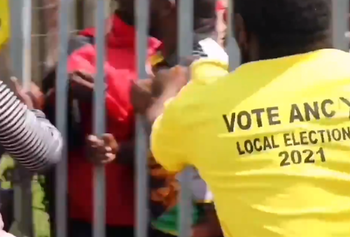 Watch   'They have gone crazy!' – ANC members scuffle with EFF, Malema