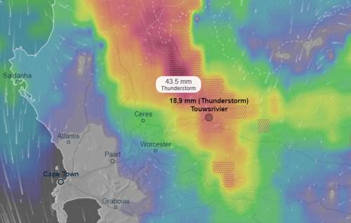 Take cover: Torrential rain, hail, thunder set to BATTER the Western Cape