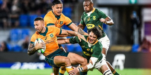 Pictures | Quade Cooper leaves Siya Kolisi with a message after shirt swap following the Wallabies win over the Springboks