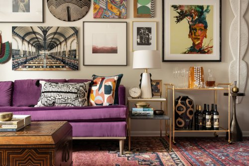 Look Inside This Designer's Globally Inspired Eclectic Maximalist-Boho Townhouse