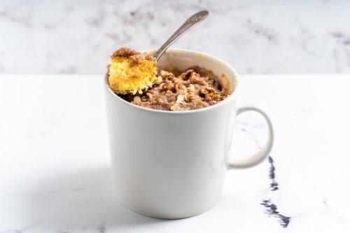 Make Cinnamon Streusel Coffee Cake in a Mug