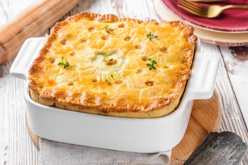 Crusty Turkey Pot Pie with Carrots and Peas