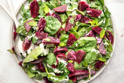 Moroccan Beetroot Salad With Yogurt Dressing Is Healthy and Delicious