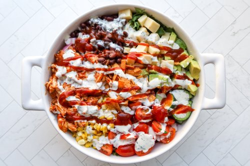 BBQ Ranch Chicken Salad Is Bursting With Flavor