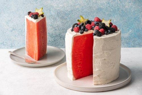 Light and Refreshing Watermelon Cake