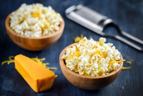 5-Minute Cheesy Popcorn Recipe Made With Real Butter and Cheese