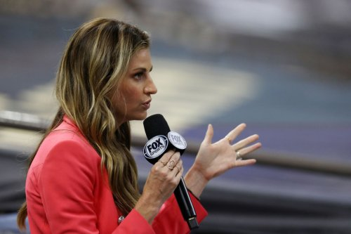 Erin Andrews Reacts To Tom Brady's Postgame Moment