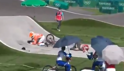 Video: Gold Medal Favorite In Scary Crash During Olympic Training
