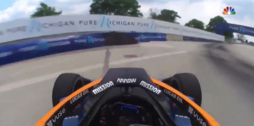 Indy Car Racer Taken To Hospital After Scary Collision