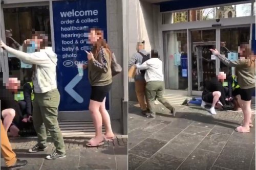 WATCH: Woman pinned to the floor after Chinese student attacked in Sheffield city centre