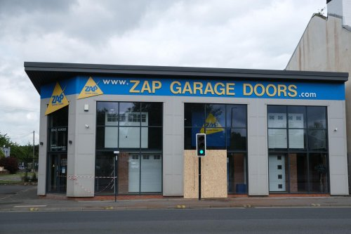 Four casualties in car crash which damaged shopfront of Sheffield business