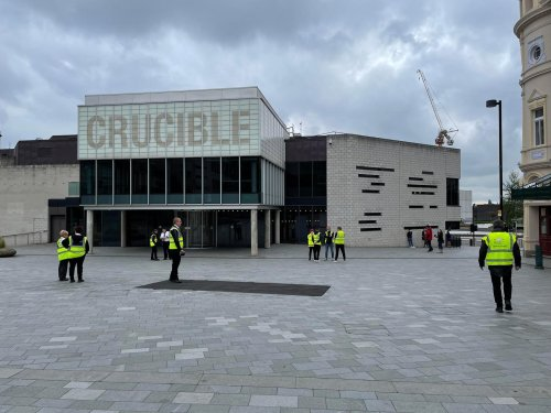 Sheffield's Crucible Theatre deserted for second pop-up Covid-19 vaccination clinic