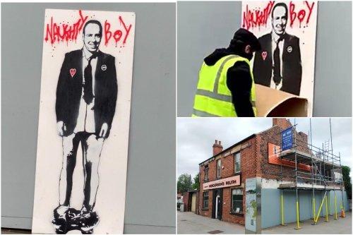 'Naughty boy Matt Hancock' street art disappears from Sheffield in less than a day