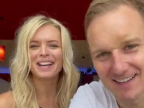 TV host Dan Walker has been put through his paces in a dance studio in Sheffield ahead of his Strictly live show debut