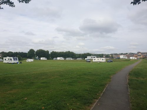 Concerns raised as travellers set up camp on recreation ground opposite new housing development