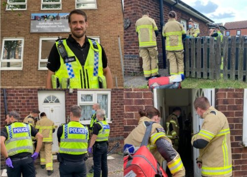 South Yorkshire Police officer runs to the aid of vulnerable man trapped in house and saves his life