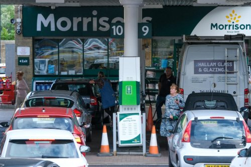 Motorists are ignoring panic buying and flocking to petrol stations - causing some to run out