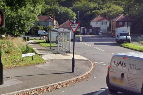 Racist graffiti left on bus stop in Sheffield suburb for more than 24 hours