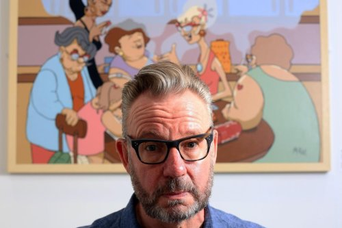 Artist Pete McKee thanks 'amazing' staff at Northern General for saving his life for third time