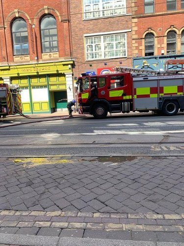 West Street closed in Sheffield city centre as firefighters tackle flat blaze
