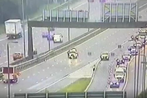 M1 near South Yorkshire closed and air ambulance at scene after 'serious' crash